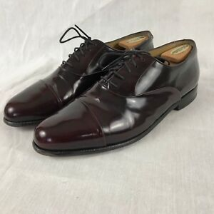 87c3c027c26 Image is loading Nordstrom-Burgundy-Leather-Cap-Toe-Oxford-Dress-Shoes-