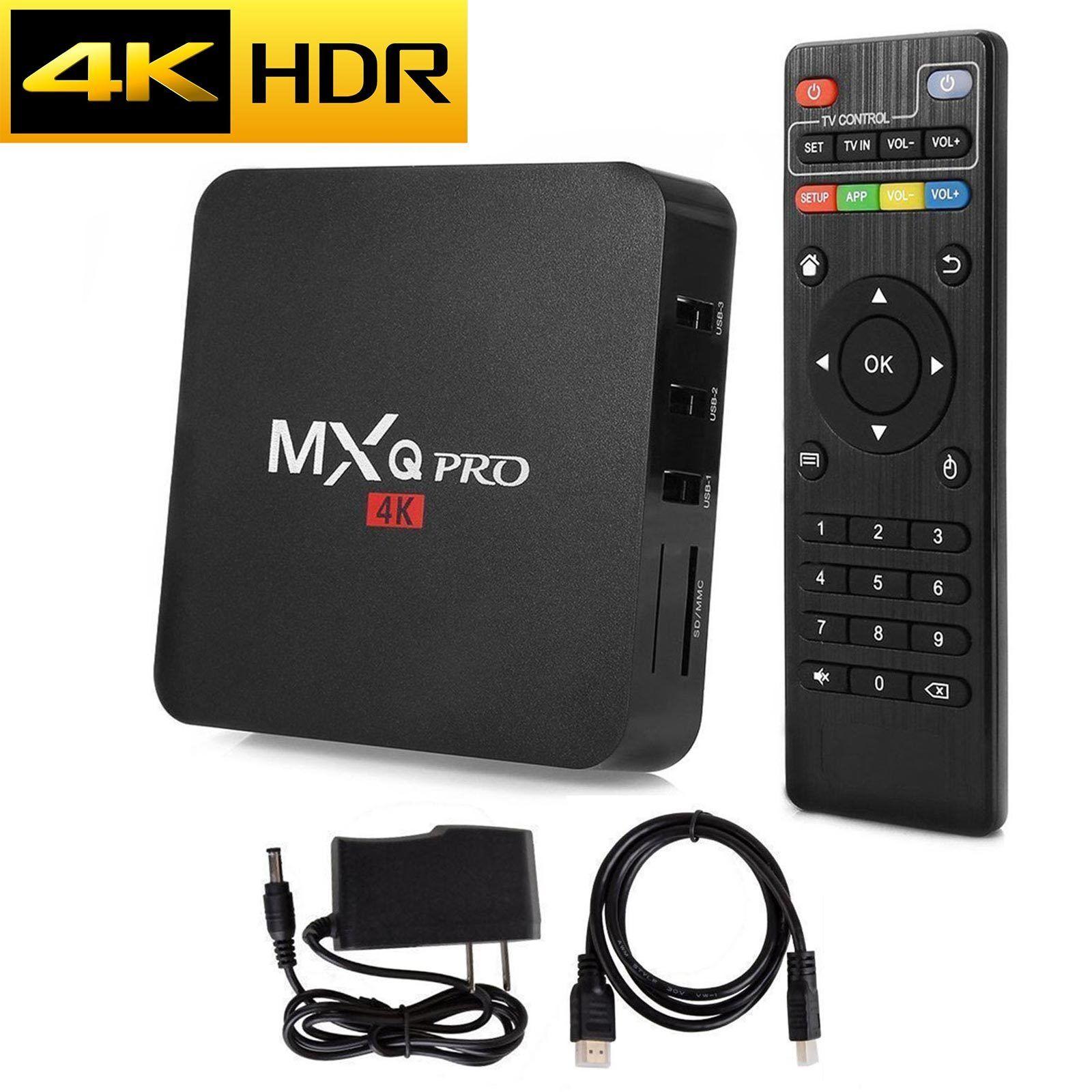 s-l1600 Latest MXQ Pro 4K HDR Android 7.1.2 Nougat TV Box with KODI 18 1G/8G S905W US