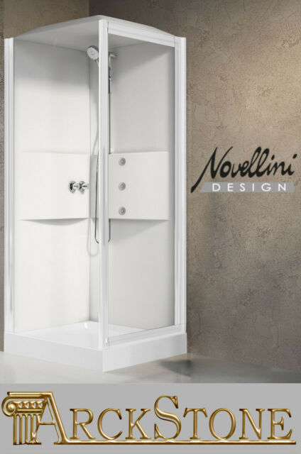 Cabina Doccia Completa.Cabina Doccia Completa Novellini Media 2 0 Gf80 Idro Tettuccio Soffione 80x80 Cm