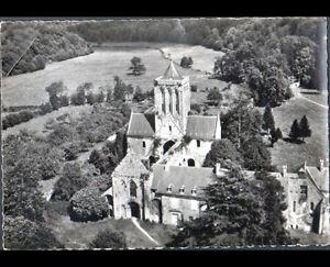 AVRANCHES-GRANVILLE-50-ABBAYE-de-LUCERNE-vue-aerienne-en-1950