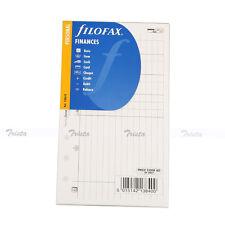 Filofax Book Personal Organiser Finances Diary Notepaper Refill Insert 130618