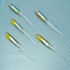 Shad Minnow Sand Eel Needle Tail Soft Lure Fishing Tackle Swimbait Jig Head 90mm