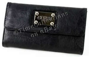 New Clutch Wallet Gelato Black Guess Signature Lq3Rc4j5A