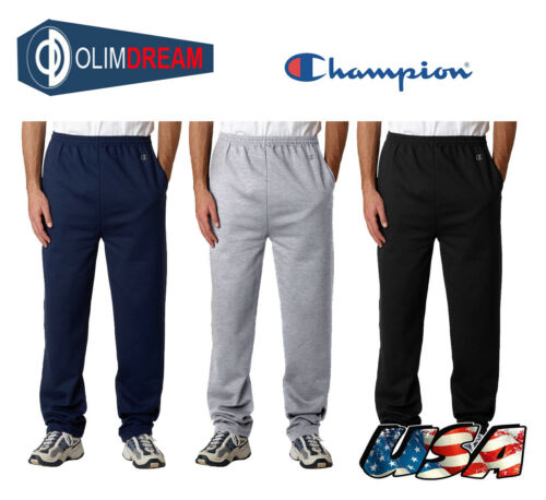 Champion Sports Mens S//XXL OPEN BOTTOM Eco Pocket Sweatpants P800