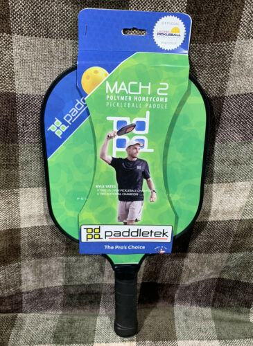 New Official Paddletek Pickleball Paddle Mach 2 Lightweight Polymer Composite