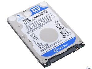 WESTERN-Digital-Blue-250-GB-a-5400-RPM-2-5-034-WD2500LPVX-Hard-Drive-HDD-SATA-III