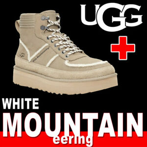 LIMITED UNISEX UGG WHITE MOUNTAINEERING HIGHLAND SPORT BOOT SUEDE 12 MSRP $275