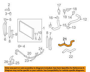 toyota oem 03 08 corolla 1 8l l4 radiator heater hose 8724502500 ebay rh ebay com Toyota Corolla Parts Diagram 1995 Toyota 4Runner Engine Diagram