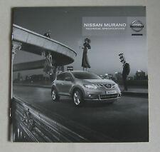 Nissan Murano especificaciones técnicas de la gama 2010 COCHE FOLLETO. 2.5 dCi 3.5i V6