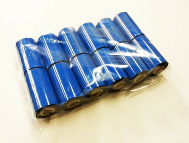 "12-Pack ZEBRA RESIN-ENHANCED WAX Ribbon 57mm x 74m 2.25"" x 244' TLP 2824 Black"