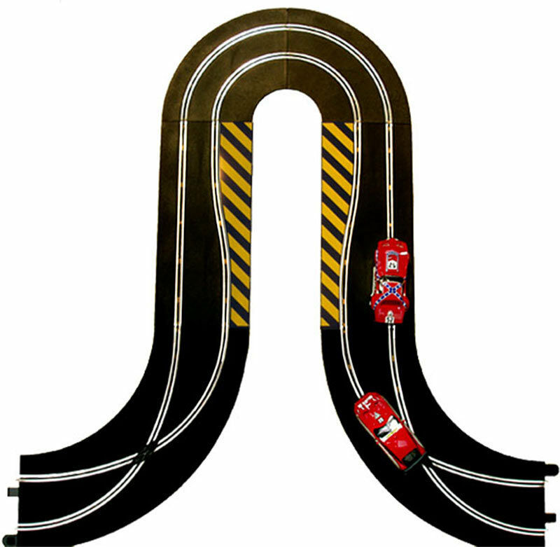 SCALEXTRIC BUNDLE C8201 C8246 C8203 Hairpin Curve Side Swipes Credver