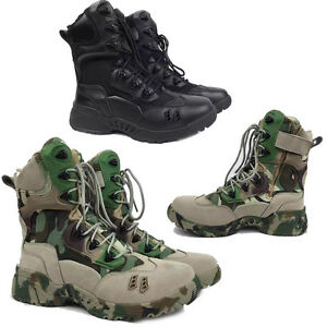 Mens Camo Tactical Military Ankle Boots
