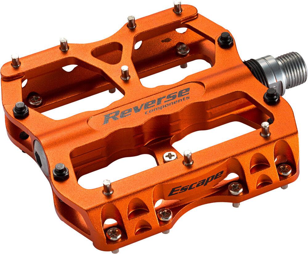 Reverse escape Flat bicicleta pedal naranja