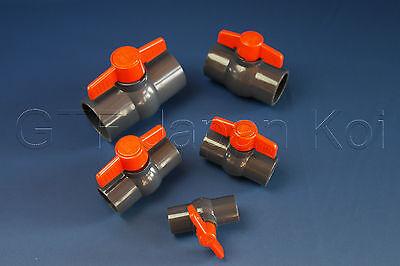 PVC Kugelhahn Absperrhahn Absperrventil  von 25mm bis 63mm 10bar