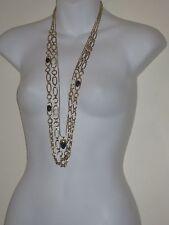 Banana Republic Cabochon Crystal Necklace Marble Pendant Necklace NWOT 35  Set 3