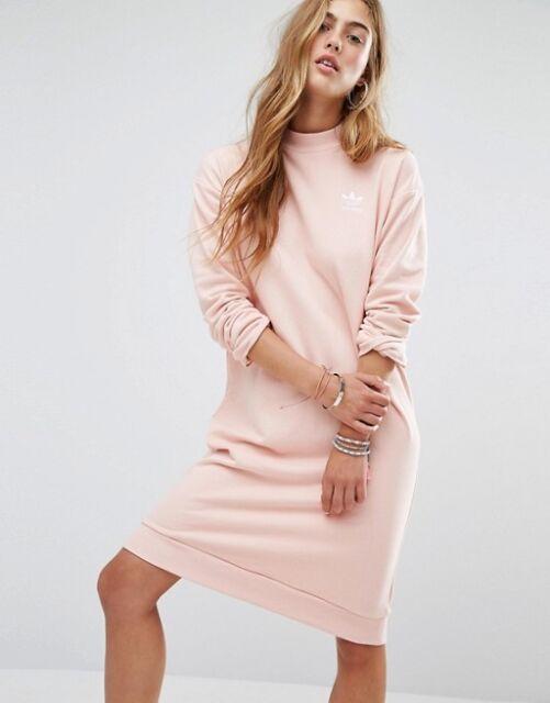 continuar filosofía dictador  adidas Originals Camo Midi Crew Long Sweater Jumper Dress Pink ...