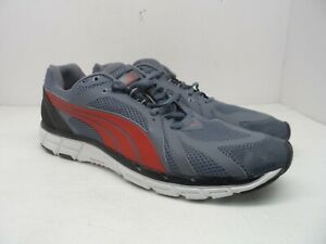 cd4067f60e0a7b Puma Men s Faas 600 S Trainers Running Shoes Mesh Lace Gray Red ...