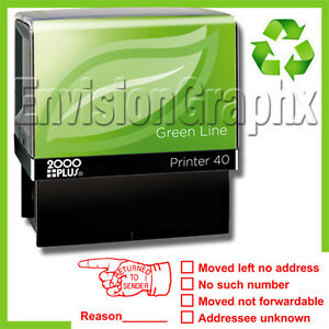 Image Is Loading RETURN TO SENDER Self Inking Rubber Stamp In