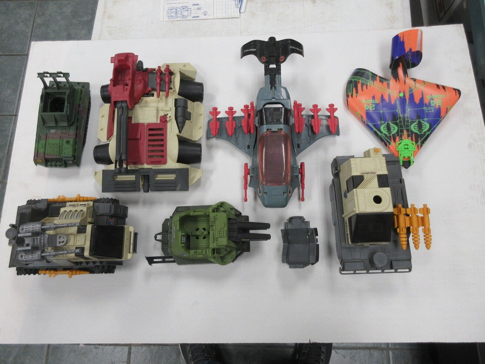 1980's GI JOE ARAH VEHICLE LOT FOR PARTS