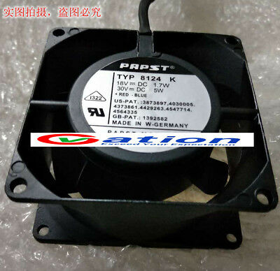 for ebmpapst 8124K All metal High temperature resistance 8CM 24V 5W cooling fan