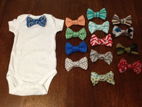 Short Sleeve Interchangeable Bow Tie Onesie 0-3 Months