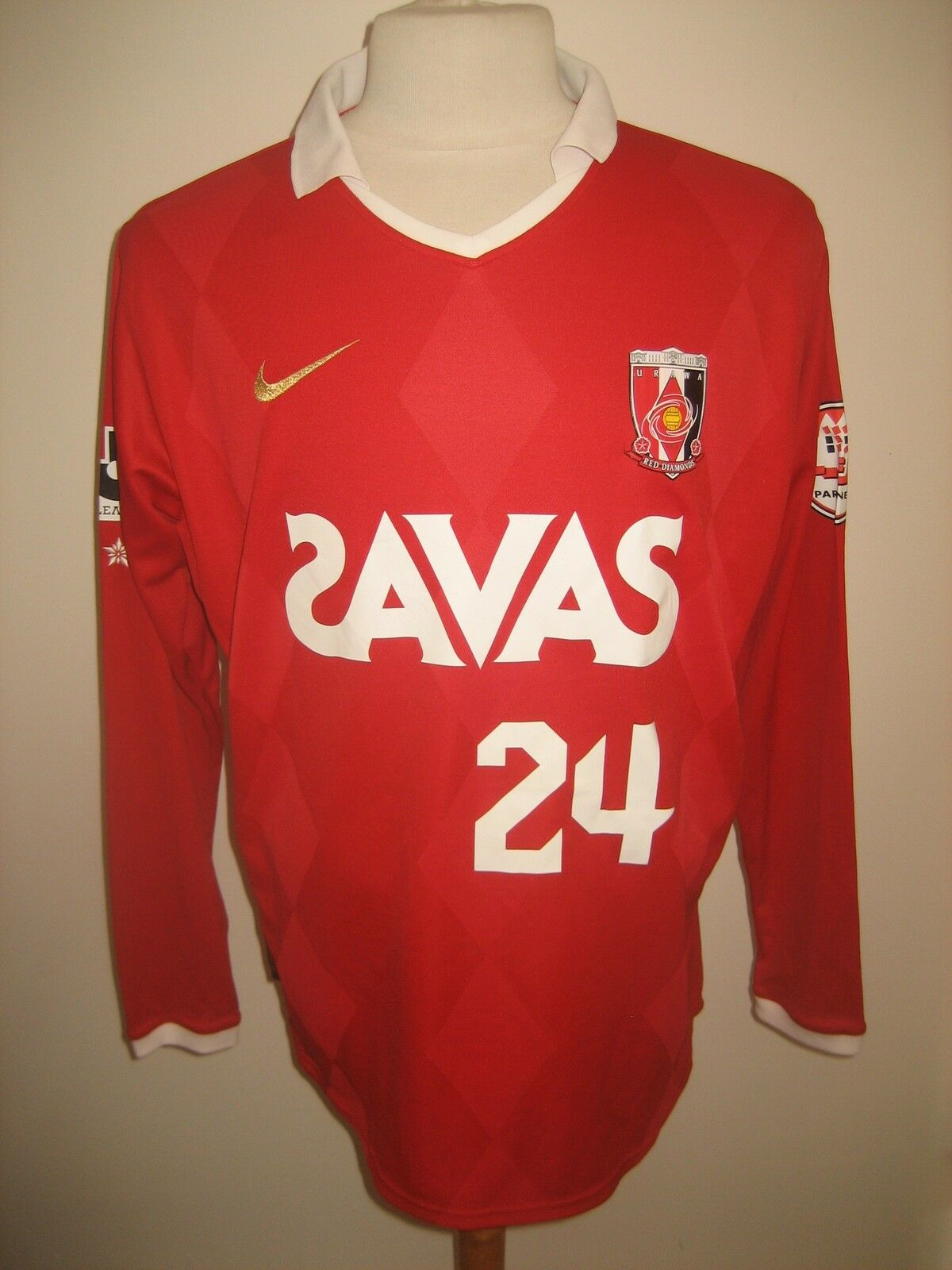 Urawa rosso Diamonds MATCH WORN WORN WORN Japan rare football shirt soccer jersey Dimensione XL a0a0a2