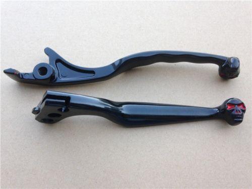 New Black Brake Clutch Skull Hand Lever For Honda Shadow 600 750 1100 Magna 750