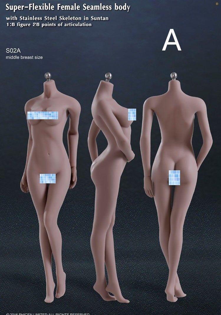 1 6 Tbleague esqueleto de acero sin costura Bronceado S02A Cuerpo Modelo F 12  figura femenina