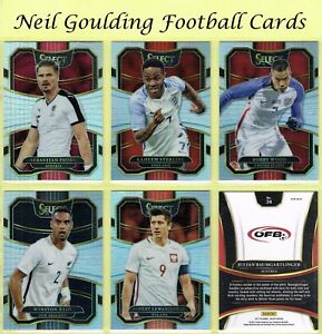 Sélectionnez Soccer 2016-2017 ☆ Argent parallèles ☆ FOOTBALL CARDS #201 à #300