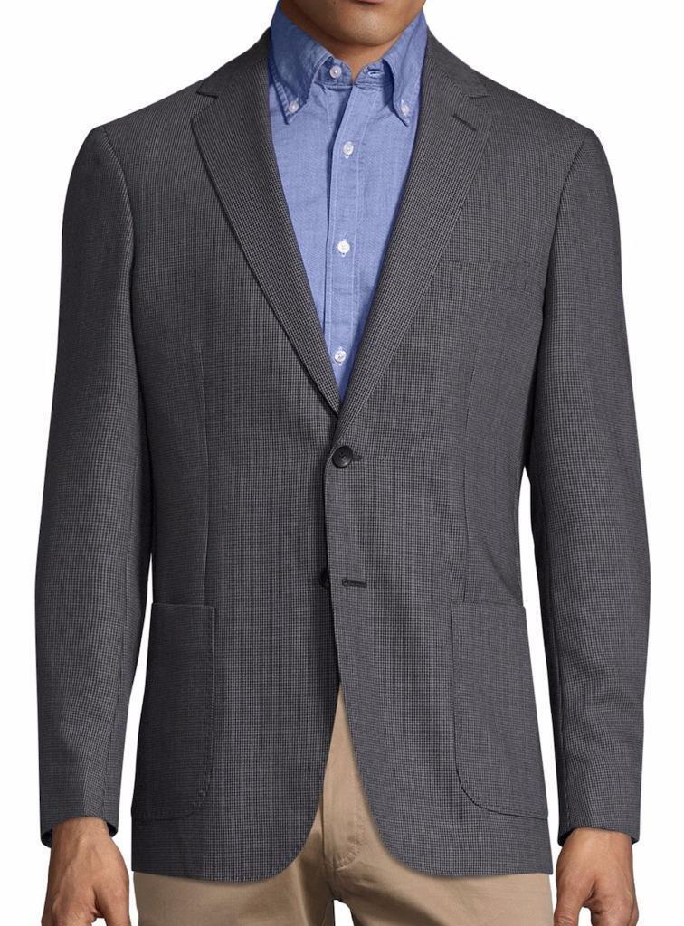 New with Tag - 695 Gant Oxford Wool Blend Graphite Notch Lapel Blazer US 38 (48
