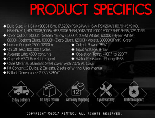 8000K HID XENON 9006//HB4 LOW BEAM HEAD LIGHTS BULB CONVERSION KIT W//BALLAST C6