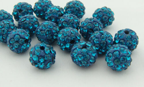 HOT 10mm cz Clay Crystal Disco Ball Make Bracelect for charm Beads Wholesale
