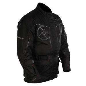 Oxford-STOCKHOLM-Black-Textile-Waterproof-Motorbike-Touring-Thermal-Jacket-S-5XL