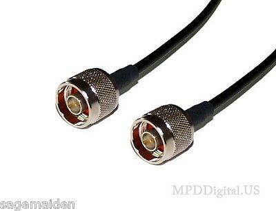 N Male to BNC male 3 ft RG8X HAM Jumper Antenna Coax Coaxial Cable