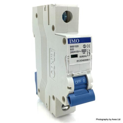 1P Circuit Breaker B6B1020 IMO B-Curve 20A 6kA B6-B10-20