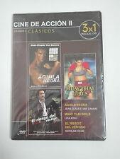 AGUILA NEGRA, MUAY THAI GIRLS, EL RIESGO DEL VERTIGO  Dvd 3x1 Accion PRECINTADO