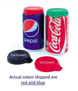 SHIP-DELAY-with-text-3-SODA-CAN-LIDS-POP-BEVERAGE-CAN-COVERS-TOPS-CAPS-RED-BLUE