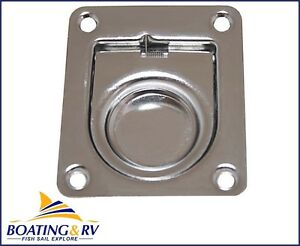 Recessed Lift Ring Flush Pull Handle 40x35mm Marine Grade Stainless Steel