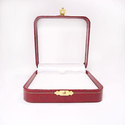 Schmuck Etui Box Schmuckverpackung Geschenk Kroko Optik Leder Imitat rot