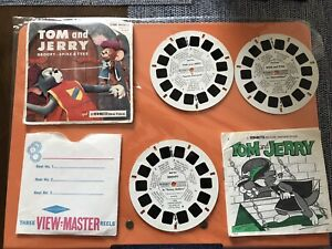 Viewmaster-Mulinelli-Tom-amp-Jerry-DROOPY-Spike-amp-Toddle-1956-GAF-RARA-B511
