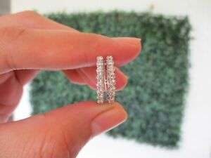 "SALE‼️.40 CTW Diamond Clip Earrings 18k White Gold E369W / E4 sep ""SP"""