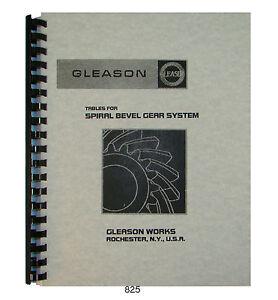 gleason tables for spiral bevel gear system design manual 825 ebay rh ebay com Bevel Gear Design Zerol Bevel Gear