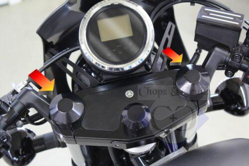 schwarz 2 Stück Smooth Abdeckung Gabelholm-Muttern Aluminium