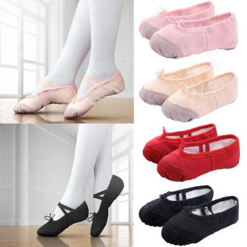 Newborn Kids Toddler Canvas Shoes Baby Girl Ballet Dance Shoes Gymnastics Shoes