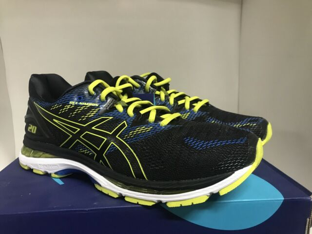Asics GEL-Nimbus 20 Running Shoes Black/Sulphur Spring/Victoria Blue Mens Sz 10