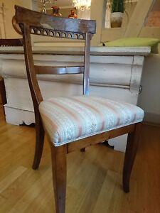 Details Zu Eleganter Biedermeier Stuhl Wunderschones Stuck Antik Stuhl 2 Von 2