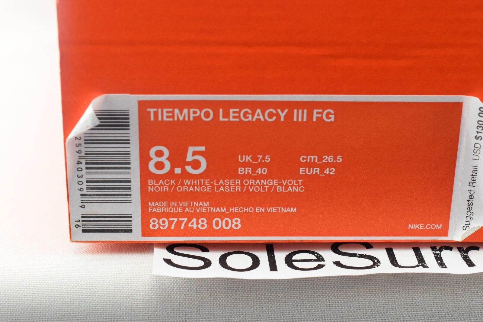 Nike Tiempo Legacy 3 FG 897748008 Black Halfshoes Us8.5  26.5cm for sale  online  a4418f1d9c