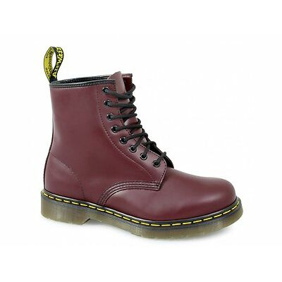 Dr Martens 1460z Unisex Classic Airwair 8 Eyelet Boots Mens/Womens Black/Red New