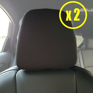 BLACK SPANDEX CAR HEADREST SEAT COVERS Fit Acura MDX ILX RDX RLX - Acura mdx seat covers
