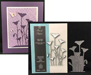 ROW OF POPPIES die Memory Box metal cutting dies 99137 flowers,poppy,leaves
